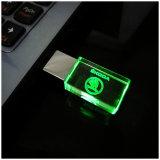 El nuevo USB Flash Drive Cristal 4GB 8GB 16GB 32GB de la insignia del coche de memoria USB palillo de la impulsión impulsión de la pluma del regalo / del coche, luz del LED