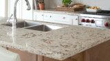 Твердой отполированный поверхностью сверкная белый Countertop кварца для кухни