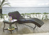 S-Type Outdoor Leisure Beach Pool Terrace Chaise Lounge