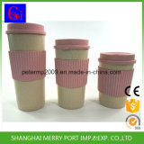tazza calda dell'acqua della fibra del frumento di vendita di 600ml 21oz, tazza di plastica