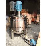 1000L calefacción a vapor de acero inoxidable revestido depósito mezclador doble