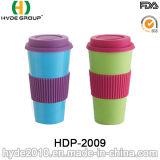 BPA geben bunte ökologische Bambusfaser-Kaffeetasse frei (HDP-2009)
