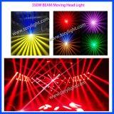 Indicatore luminoso capo mobile chiaro del randello di notte 350W del DJ della fase del LED