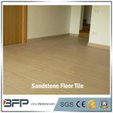 Mattonelle gialle naturali smerigliatrice dell'arenaria delle mattonelle di pietra per la pavimentazione