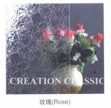 vetro modellato impresso Rosa decorativo di 4-6mm (temperato o Non-tempered)