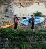 2,45m 1 Paddlers (máx.) de plástico único Kayak Sit on Top