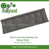 Chips de metal revestido a pedra de papelão ondulado Telha/folha (Tipo de calhaus rolados)