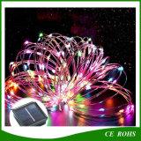 150LED 다채로운 크리스마스 나무 장식적인 옥외 정원 램프 LED 지구 빛 방수 태양 끈 구리 끈 빛