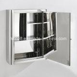 Шкаф зеркала спецификации ванной комнаты 2 мебели нержавеющей стали (7019)
