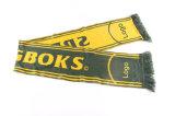 Il commercio all'ingrosso progetta la sciarpa per il cliente lavorata a maglia acrilica di gioco del calcio del ventilatore di calcio