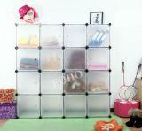 Gabinetes dobro baratos plásticos coloridos do Wardrobe do quarto de DIY