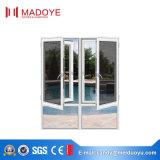 Cadres de revêtement en poudre de qualité standard australien Fenêtre battante en aluminium avec filets