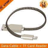 Lightning Data Cable + Lecteur de carte OTG USB Flash Drive pour iPhone (YT-RC001)