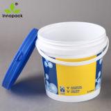 4L benna di plastica di stampa pp con il commercio all'ingrosso della maniglia e del coperchio