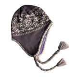 Ear Flaps (JRK115)를 가진 뜨개질을 한 Hat