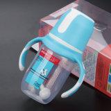 Pp.-Nahrungsmittelgrad-neue Art-Baby-Flasche mit Griff und regelmäßigem Stutzen 125ml