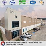 Schwere Stahlkonstruktion für Werkstatt mit Mezzanin und Büro