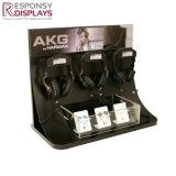 Contre- première crémaillère d'étalage acrylique de support d'écouteur à l'aéroport