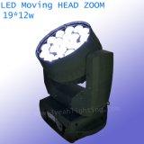 19X12W RGBW 세척 광속 급상승 LED 이동하는 맨 위 빛