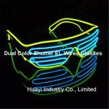 Doppelfarben-Blendenverschluß EL-Sonnenbrillen