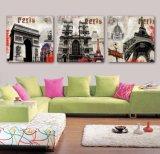 3 Panneaux d'Art Murale Peinture à l'Huile Peinture à Paris Décoration à la Toile Reproductions de Toiles Photos pour Salon Art Encadré Mc-261