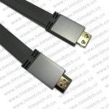 19 Pin Aluminium Shell Flat HDMI Cable