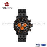 Relógio mecânico automático dos homens de negócio do aço inoxidável de qualidade superior do relógio