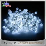 Luzes feericamente ao ar livre da corda da decoração do Natal da esfera do diodo emissor de luz