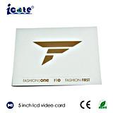 5 Zoll LCD-videobroschüre für Reklameanzeige