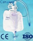 De medische Zak van de Urine van de Filter van de Koolstof van het Apparaat niet Geweven met de Klep van het Type van T