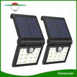 Lumière portative sans fil se pliante solaire de mouvement de la lampe 14 DEL de détecteur de garantie imperméable à l'eau extérieure légère solaire de jardin