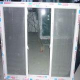 蚊帳UPVCのスライディングウインドウが付いている3枚の窓ガラス