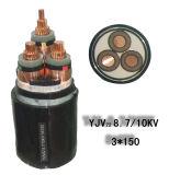 Câble d'alimentation avec conducteur en cuivre avec isolation XLPE Outsheath PVC