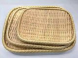 Placa de estilo de bambú rectangular de melamina/placa de Soba/Plato (NK13713-08)