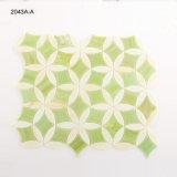 Mosaico di vetro macchiato delle mattonelle della cucina di verde della decorazione di arte da vendere