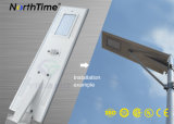 6W-120W 전화 APP를 가진 통합 태양 LED 거리 조명