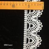 6.5Cm délicat motif floral d'Ivoire dentelle avec un élégant gouttes Hmhb1086