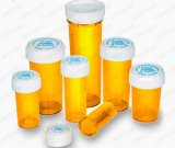 Amarillo Botella de plástico de la medicina píldora Pharmacal viales reversible