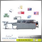 Máquina de encuadernación automática para la botella/la ampolla/el jabón/el rodillo/el cosmético/las bolsitas/la empaquetadora del cartón del ungüento