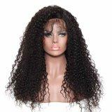 Фигурные Kinky Virgin бразильского человеческого волоса кружева передней парики