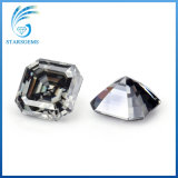 Hot Sale Excel Asscher Cut Grey Colorful Moissanite Diamond for Jewelry