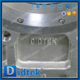 Metal del fabricante de Didtek China asentado a través de la válvula de puerta neumática del cuchillo del conducto