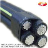 câble empaqueté aérien d'ABC de conducteur en aluminium moyen de la tension 33kv
