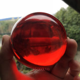 Dsjuggling 50mmの赤いアクリルのごまかす球の魔法の接触の球