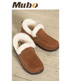 Sheepskin puramente Handmade Suede cálido invierno de la mujer zapatos