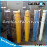 Tampas plásticas decorativas do poste de amarração, tampa de advertência do borne do Delineator flexível anticolisão do tráfego