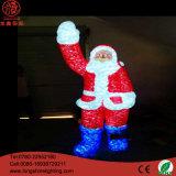 Natal acrílico Papai Noel do aperto impermeável da colagem do diodo emissor de luz 3D 220V que modela a luz do motivo da decoração do Natal da lâmpada