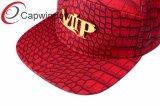 PU Snapback из натуральной кожи с металлическими патч VIP