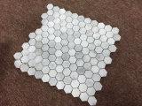 Bianco weiße Carrara Marmormosaik-Fliese