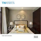 Panneau de mur sain couvert de tissu décoratif d'épreuve de fibre de polyester pour l'hôtel